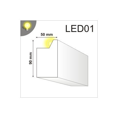 Listwa oświetleniowa LED01 50x90mm