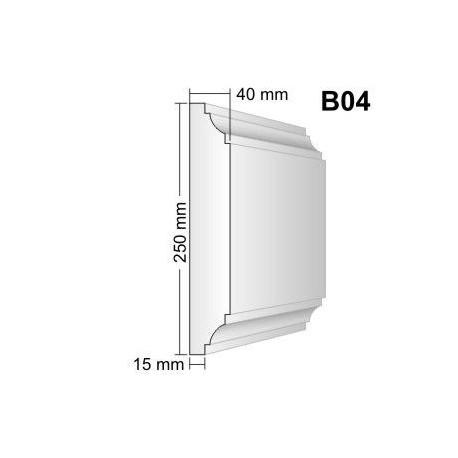 Bonia narożna B04F25 40x250mm