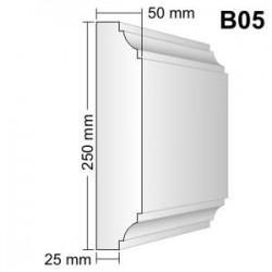 Bonia narożna B05F25 50x250x250mm