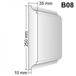 Bonia narożna B08F25 35x250x250mm
