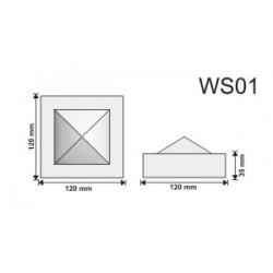 Wspornik WS01 120x120x35mm