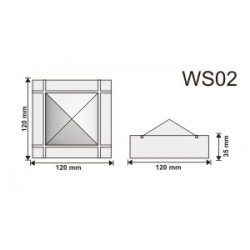 Wspornik WS02 120x120x35mm