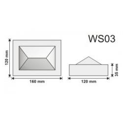 Wspornik WS03 120x160x50mm