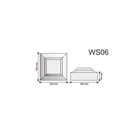Wspornik WS05 120x120x60mm