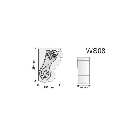 Wspornik WS07 120x120x60mm