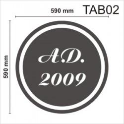 Tablica elewacyjna TAB02 590x590x50mm