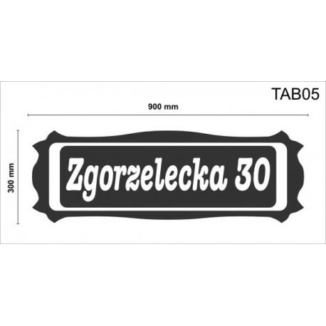 Tablica elewacyjna TAB04 700x350x50mm