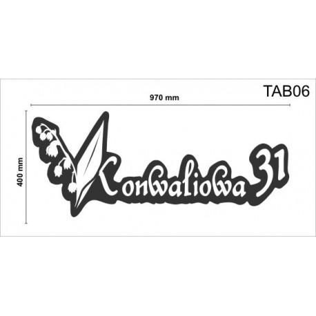 Tablica elewacyjna TAB05 900x300x50mm