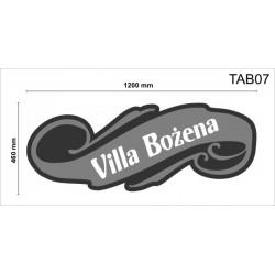 Tablica elewacyjna TAB07 1200x460x50mm