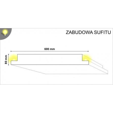 Zabudowa sufitu ZAB01 600x80mm