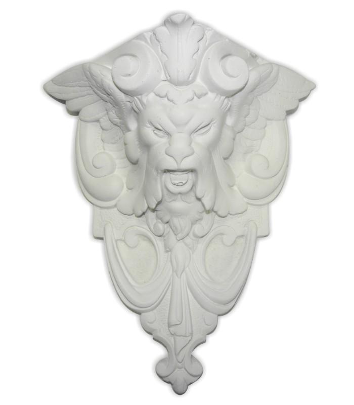 Odlew z zaprawy sztukatorskiej na bazie białych cementów